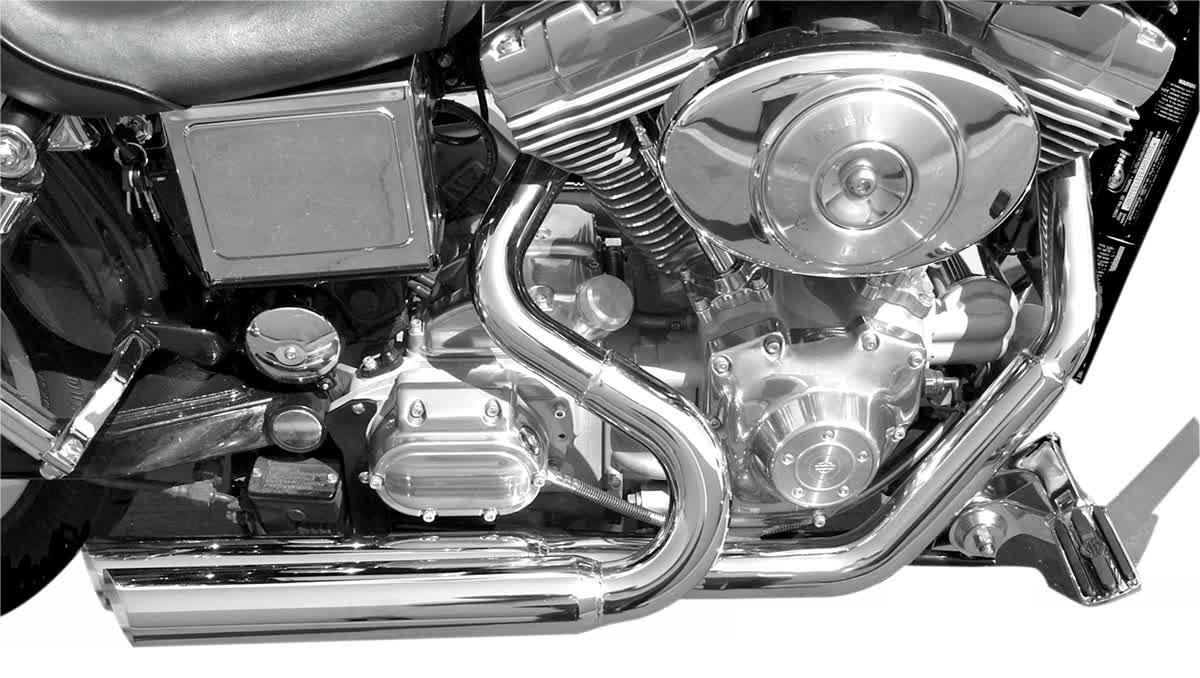 Bassani DNG-325F Pro Street Exhaust System Slash-Cut Chrome
