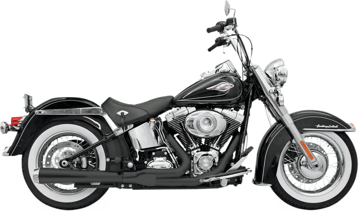 Bassani 12121J Road Rage 2-Into-1 Long Megaphone Exhaust System