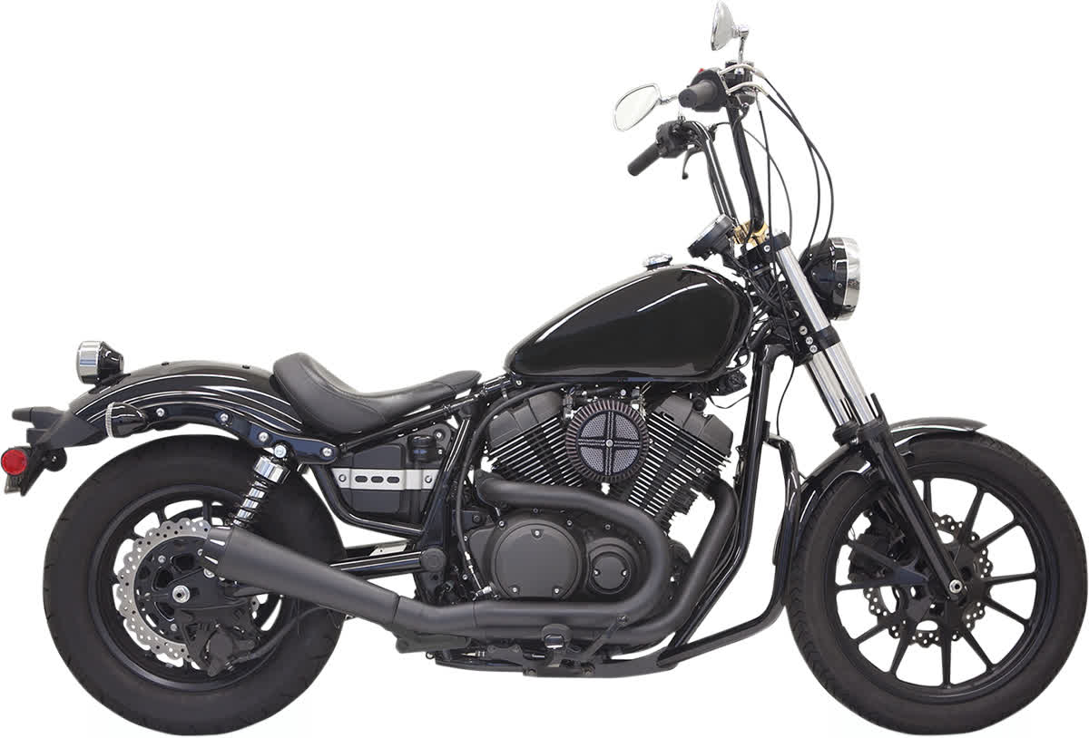 Bassani 3B12RB Road Rage 2-Into-1 Exhaust System with Upswept Megaphone Muffler