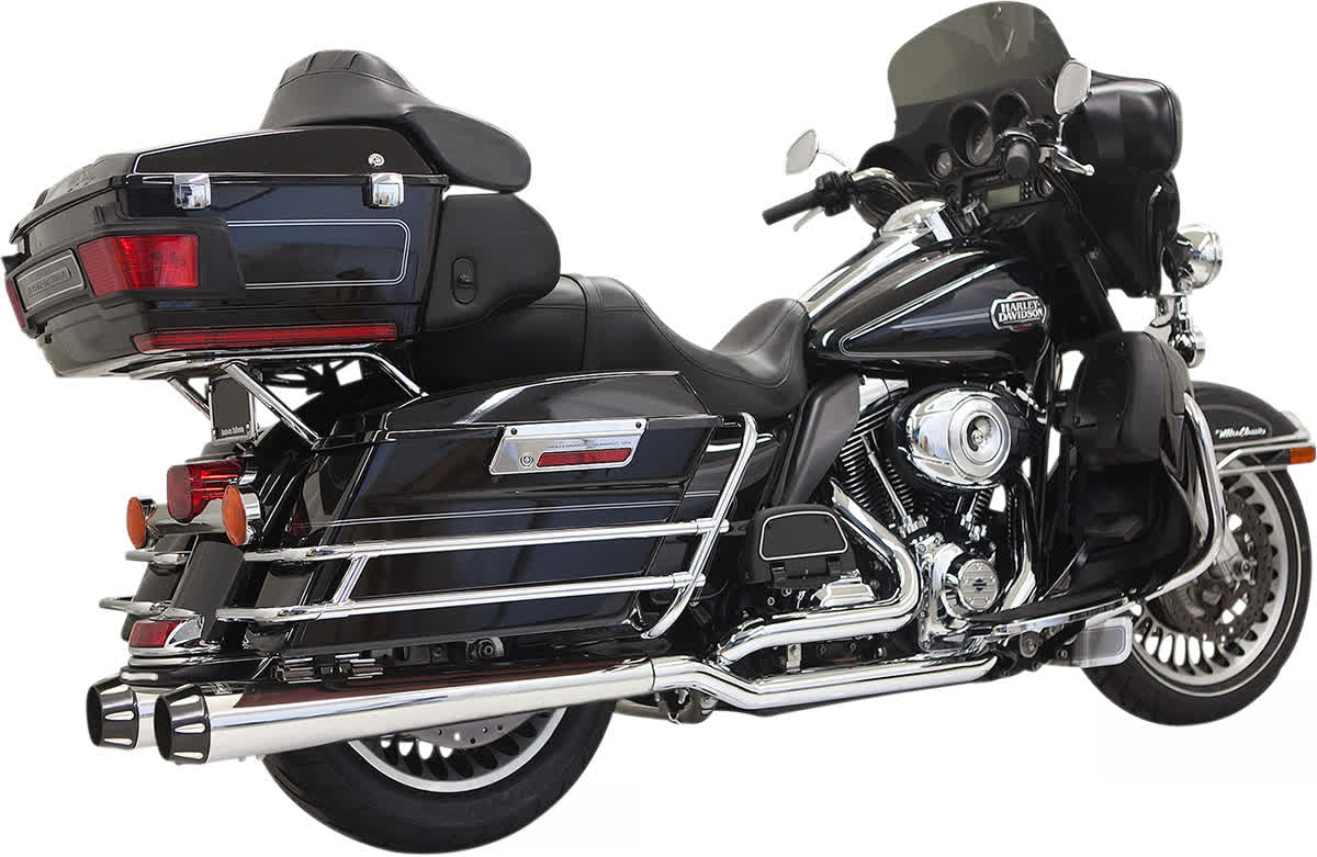 Bassani 1F66R True Dual Down Under System with Megaphone Mufflers