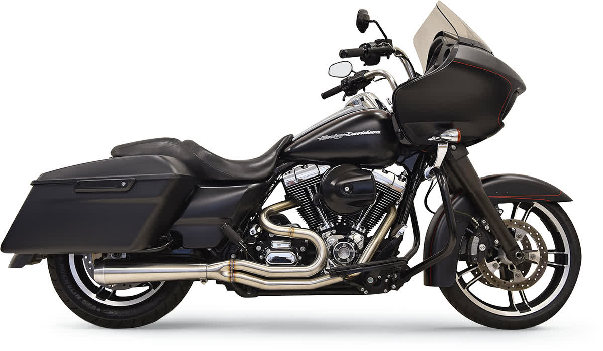 Bassani 1F12SS Short Road Rage III Stainless 2-Into-1 Exhaust System
