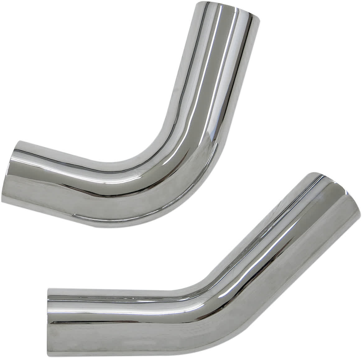 Bassani HS-DNG-3215F Chrome Heat Shields for Pro-Street Systems
