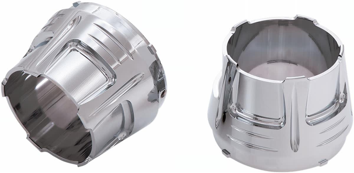 "Ciro 31200 4"" Slip-On Muffler End Caps  Diffuser Chrome"