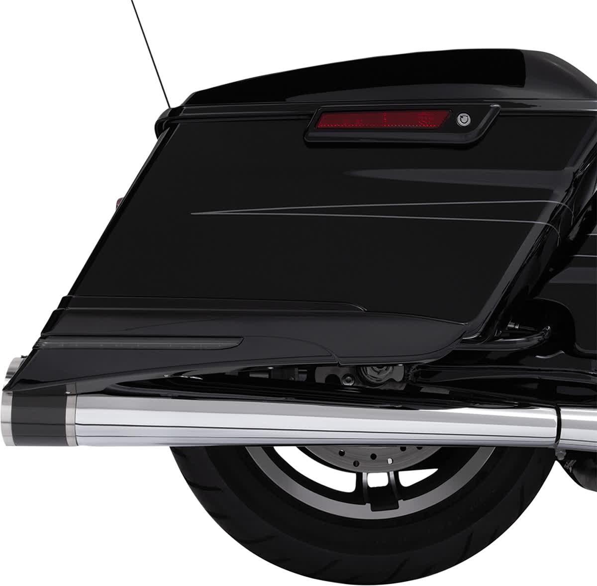 "Ciro 31400 4"" Slip-On Muffler End Caps  Stainless Steel and Carbon Fiber"