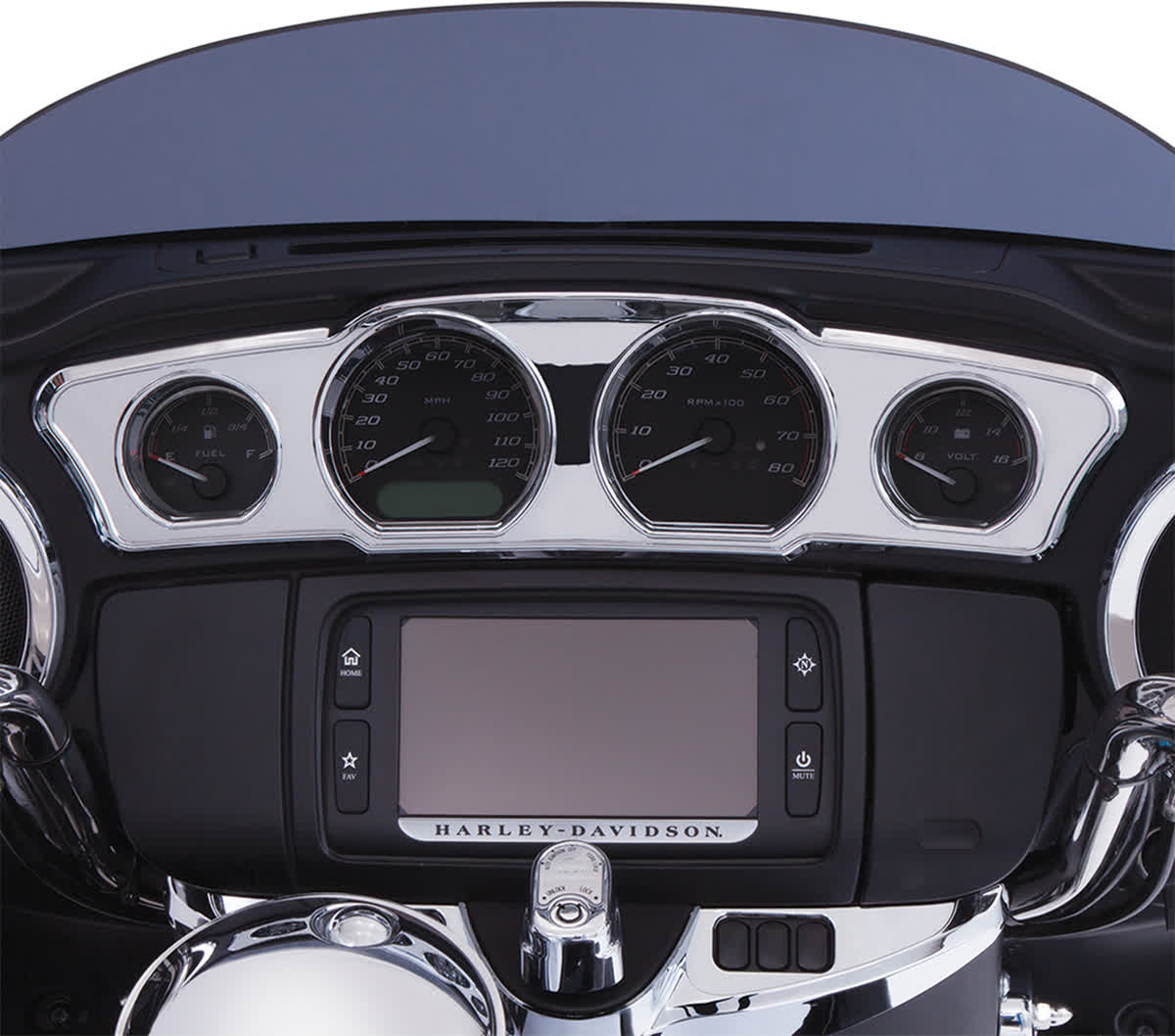 Ciro 42205 Chrome Dash Accent without LEDs for 2014+ FL Models