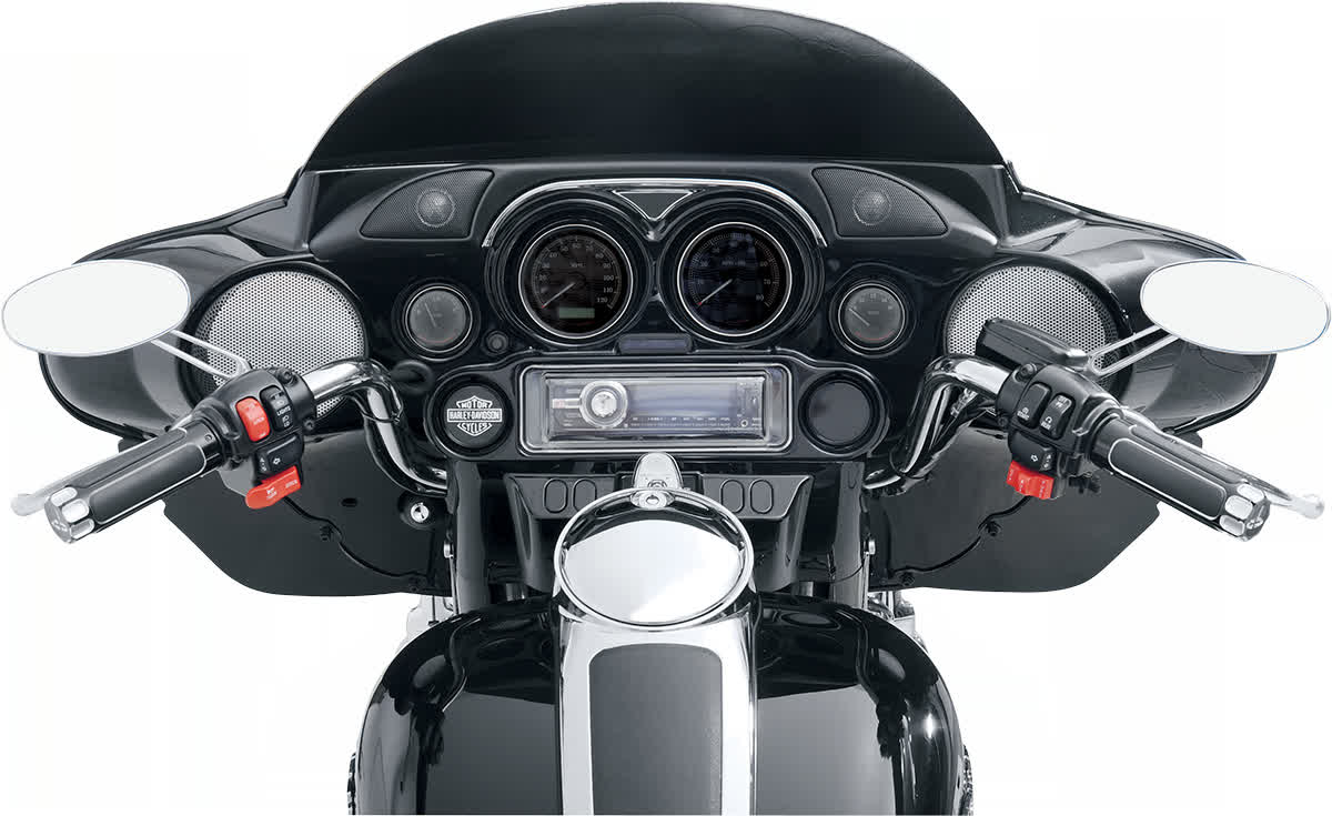 Hogtunes HF-1 Tweeter Dash Pod Speaker Kit for Harley 98-'13 FLH 4405-0172