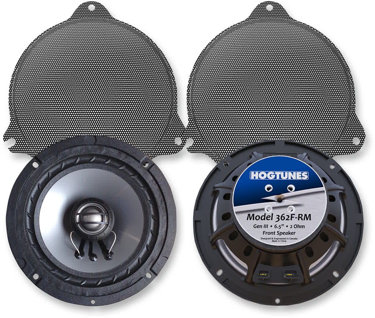 Hogtunes 362F-RM 6.5in. Replacement Front Speakers Harley 14-'19 FLH 4405-0345
