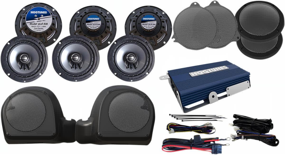 Hogtunes LIMITED-RM 200 Watt 6 Speaker Kit w/Amp Harley 14-'19 FLH 4405-0406