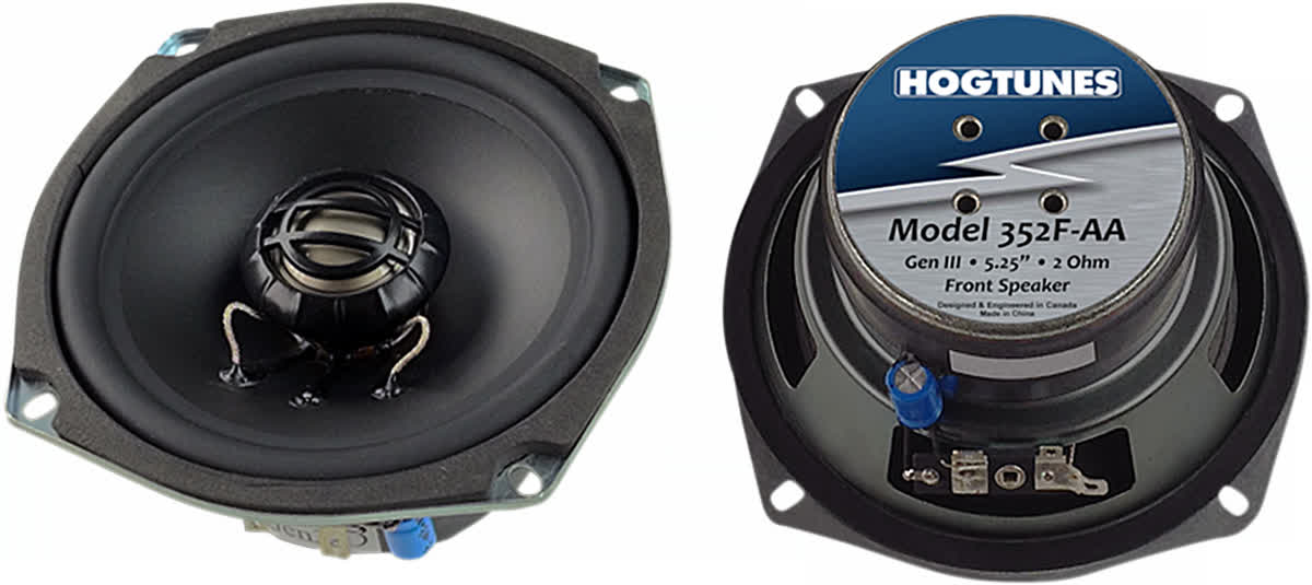 Hogtunes 352F-AA 5.25in. Replacement Front Speakers (ohm2) 4405-0325