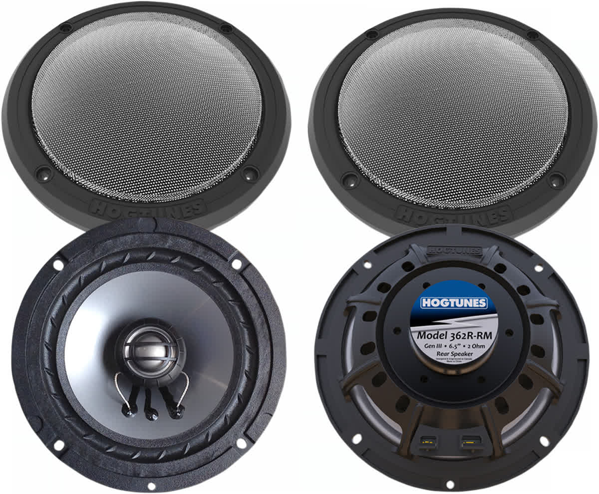 Hogtunes 362R-RM 6.5in. Replacement Rear Speakers Harley 14-19 FLH 4405-0346