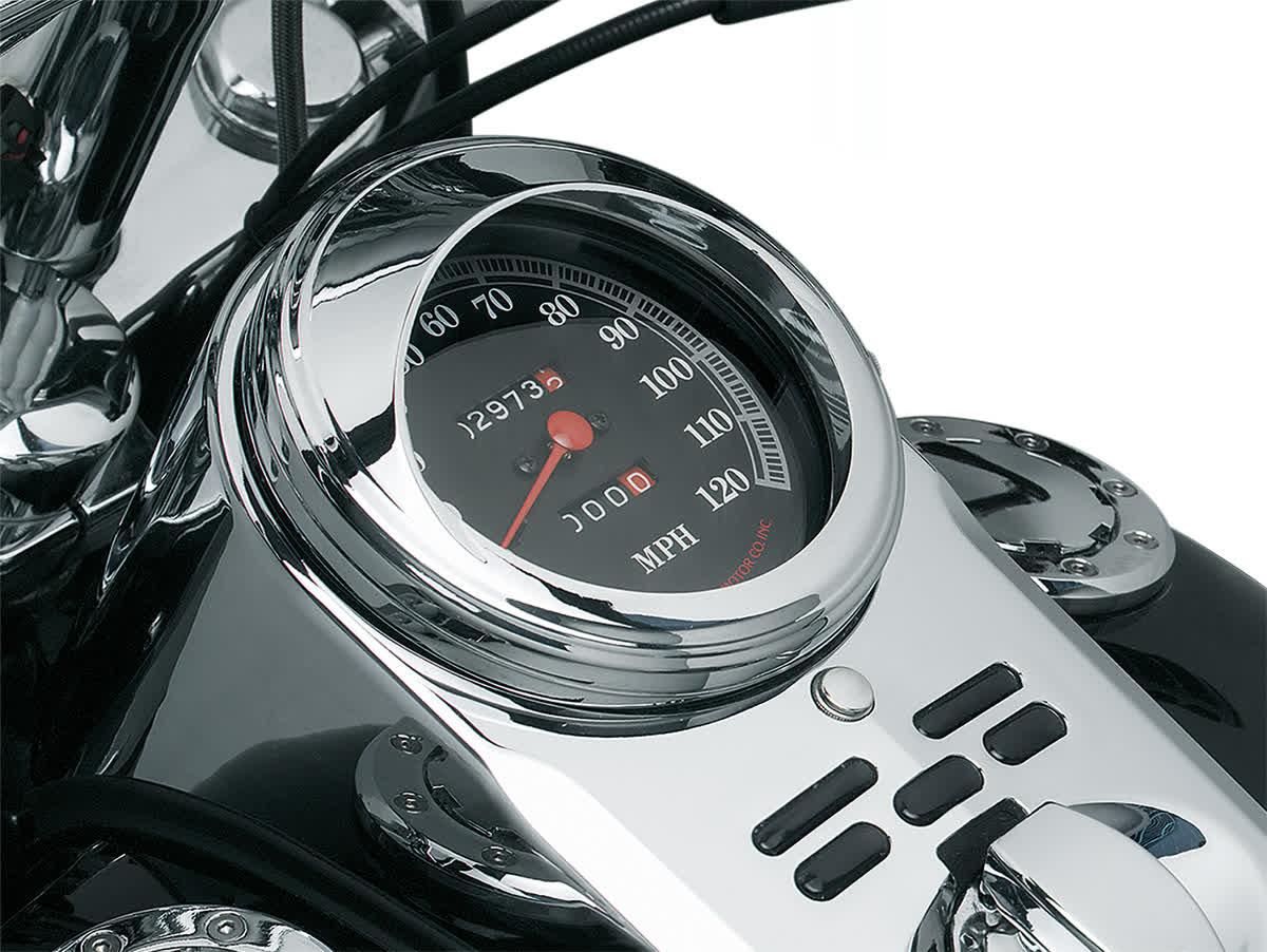 Kuryakyn - 112 - Speedometer Trim Ring with Visor