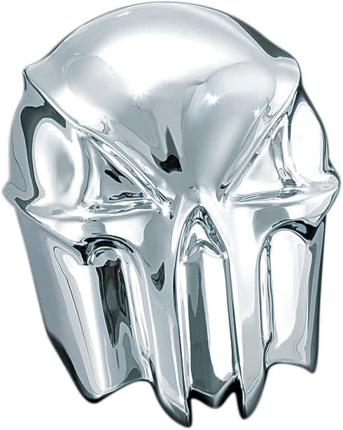 Kuryakyn - 7718 - Skull Horn Cover, Chrome