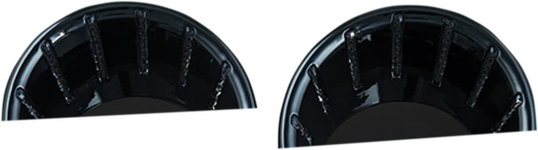 Kuryakyn - 7288 - LED Speedo & Tach Bezels, Gloss Black