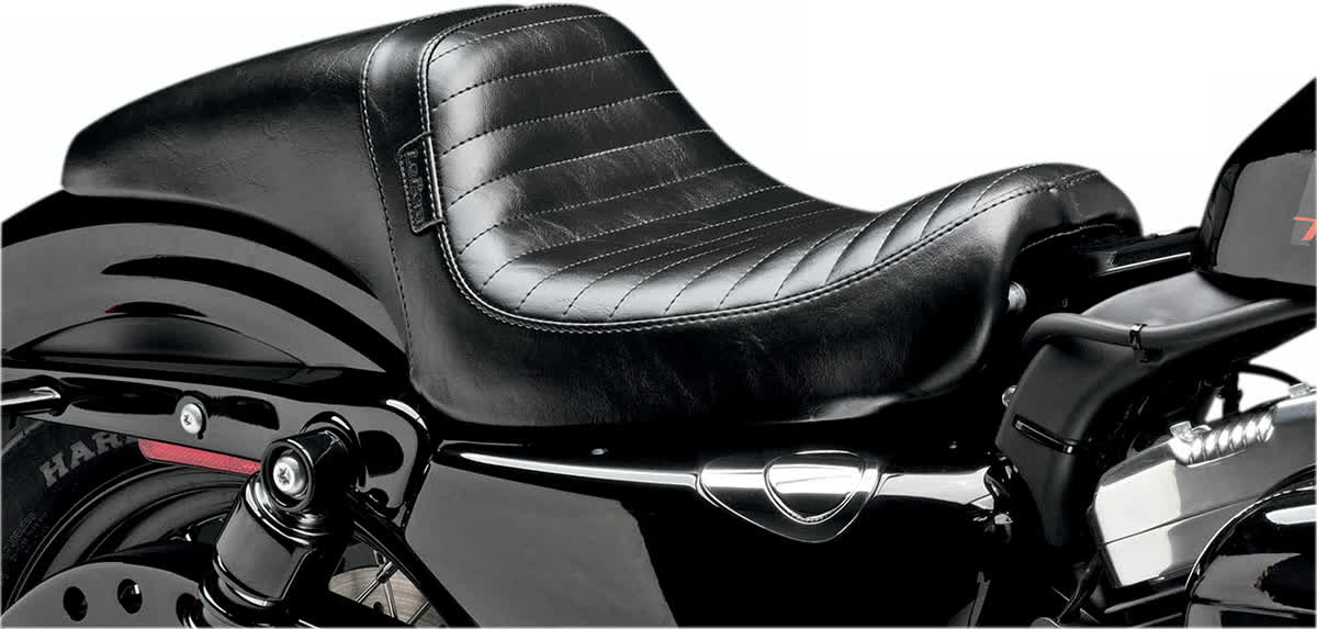 Le Pera LK-542PT Daytona Seat Pleated Black