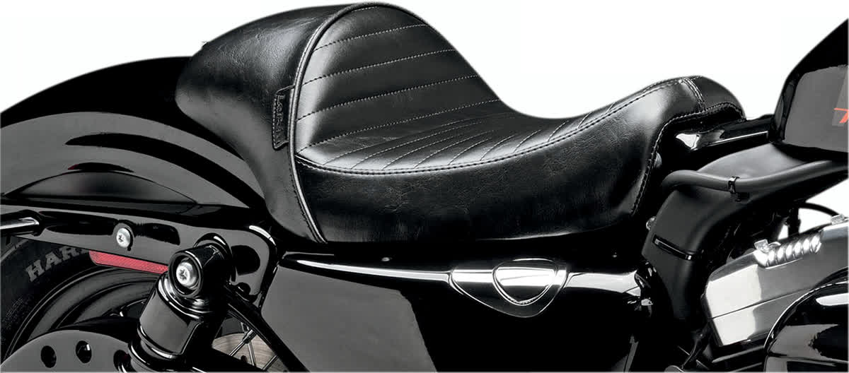 Le Pera LK-426PT Stubs Cafe Seat Pleated Black
