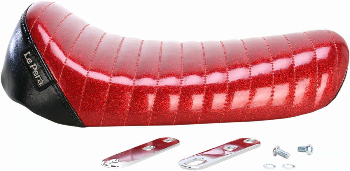 Le Pera L-006RMFPT Bare Bones Solo Seat Pleated Red Metalflake