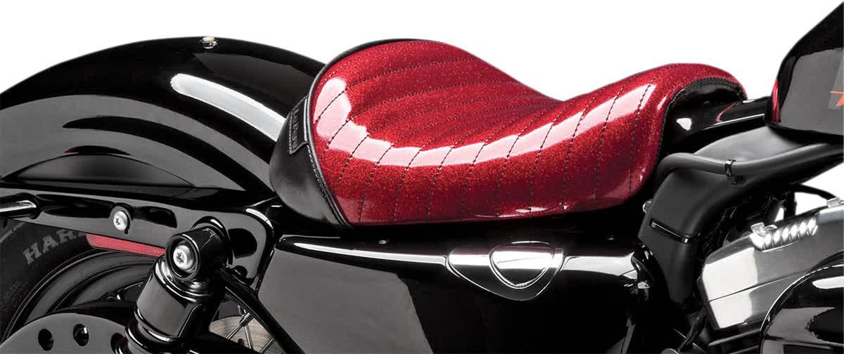 Le Pera LC-006RMFPT Bare Bones Solo Seat Pleated Red Metalflake