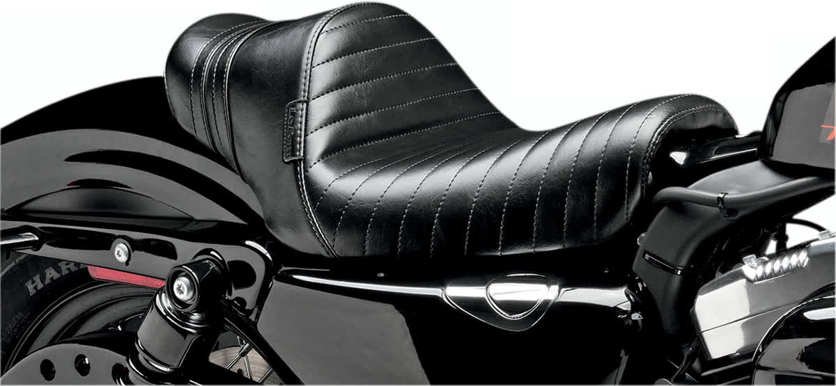 Le Pera LK-416BLK Stubs Spoiler Seat Black Stripe