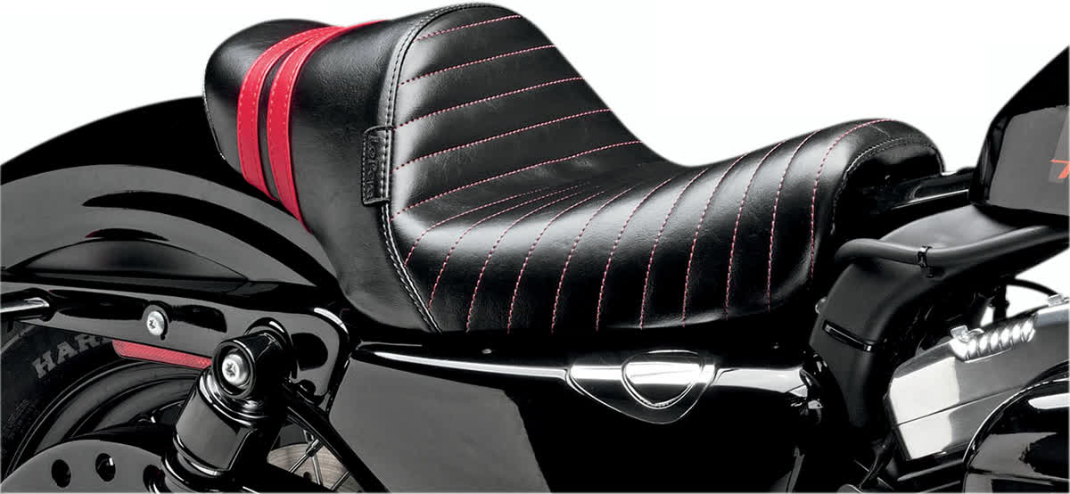 Le Pera LK-416RED Stubs Spoiler Seat Red Stripe