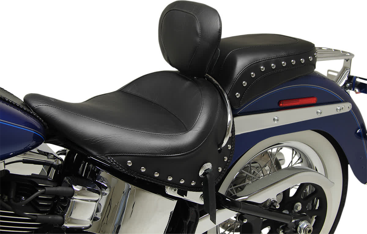 Mustang 79913 Wide Solo Seat with Removable Backrest Studded