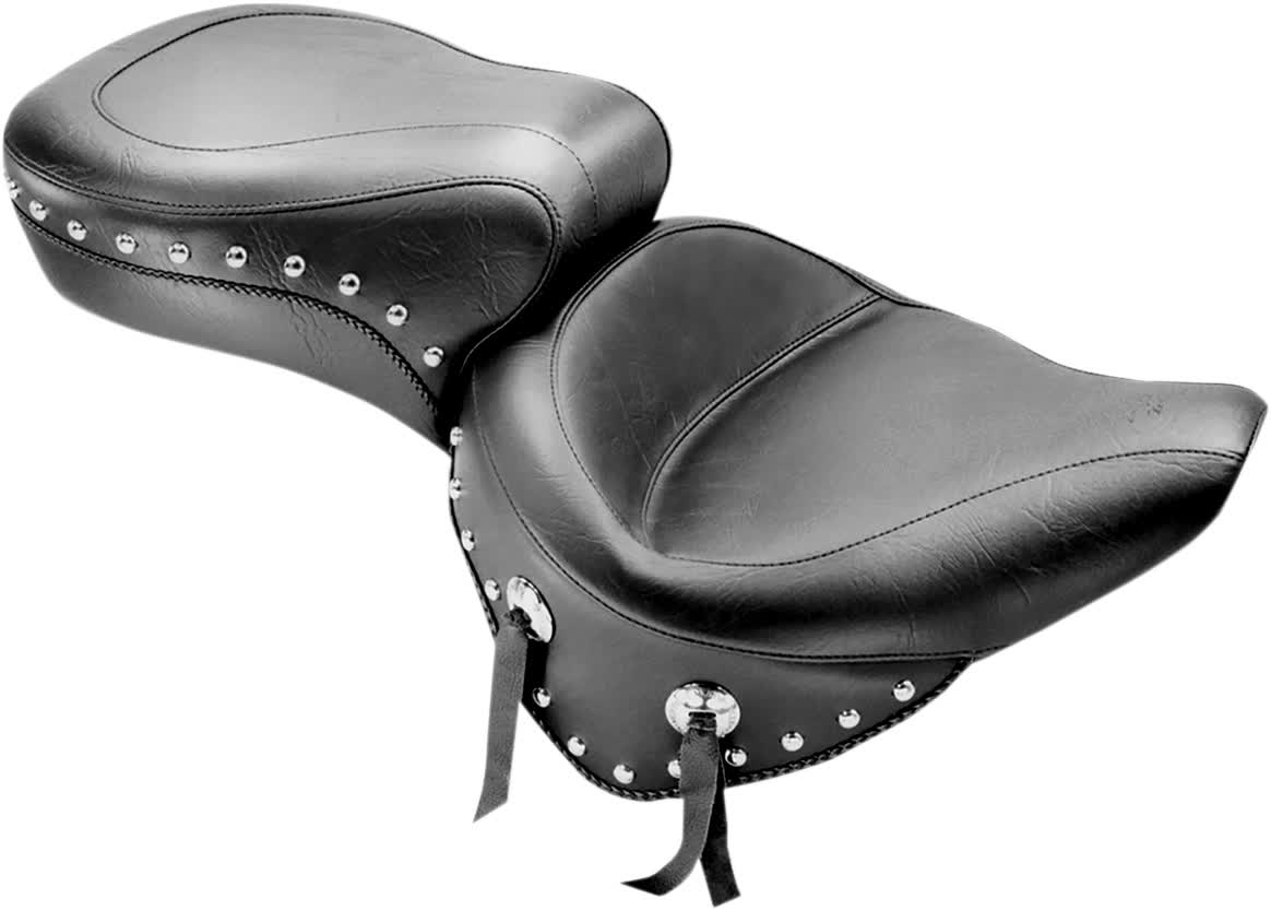 Mustang 75072 Wide Studded Super Touring One-Piece Seat