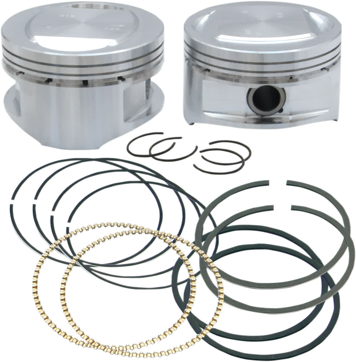 S&S Cycle 92-1201 Forged Piston Kit for 95ci. Big Bore Kit