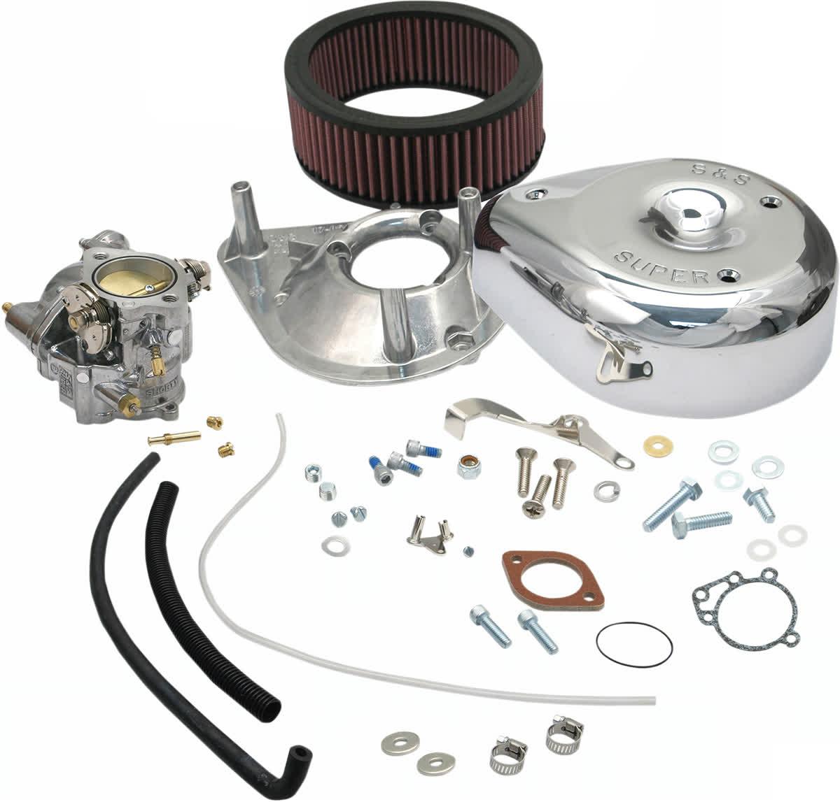 S&S Cycle 11-0412 Shorty Super E Carburetor Kit (No Manifold or Mount)