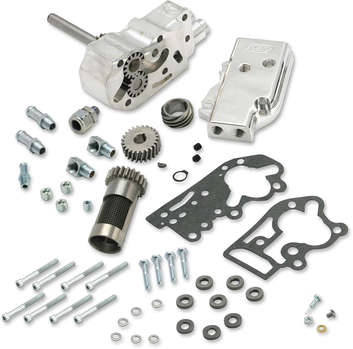 S&S Cycle 31-6293 Billet Oil Pump Kit with Universal Cover