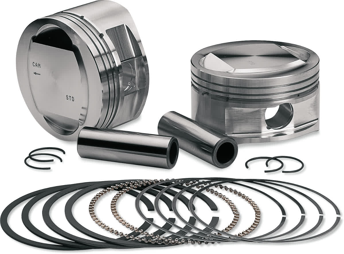 S&S Cycle 92-1200 Piston Kit (95ci. Big Bore) 3-7/8in. Bore 9.7:1 Compression