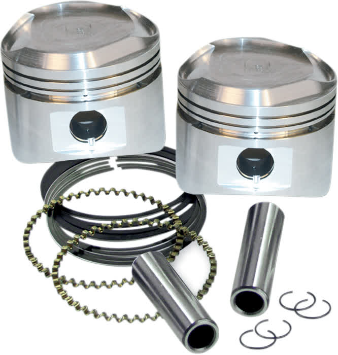 S&S Cycle 92-2028 3 1/2in. Forged Piston Kit for Super Stock Heads