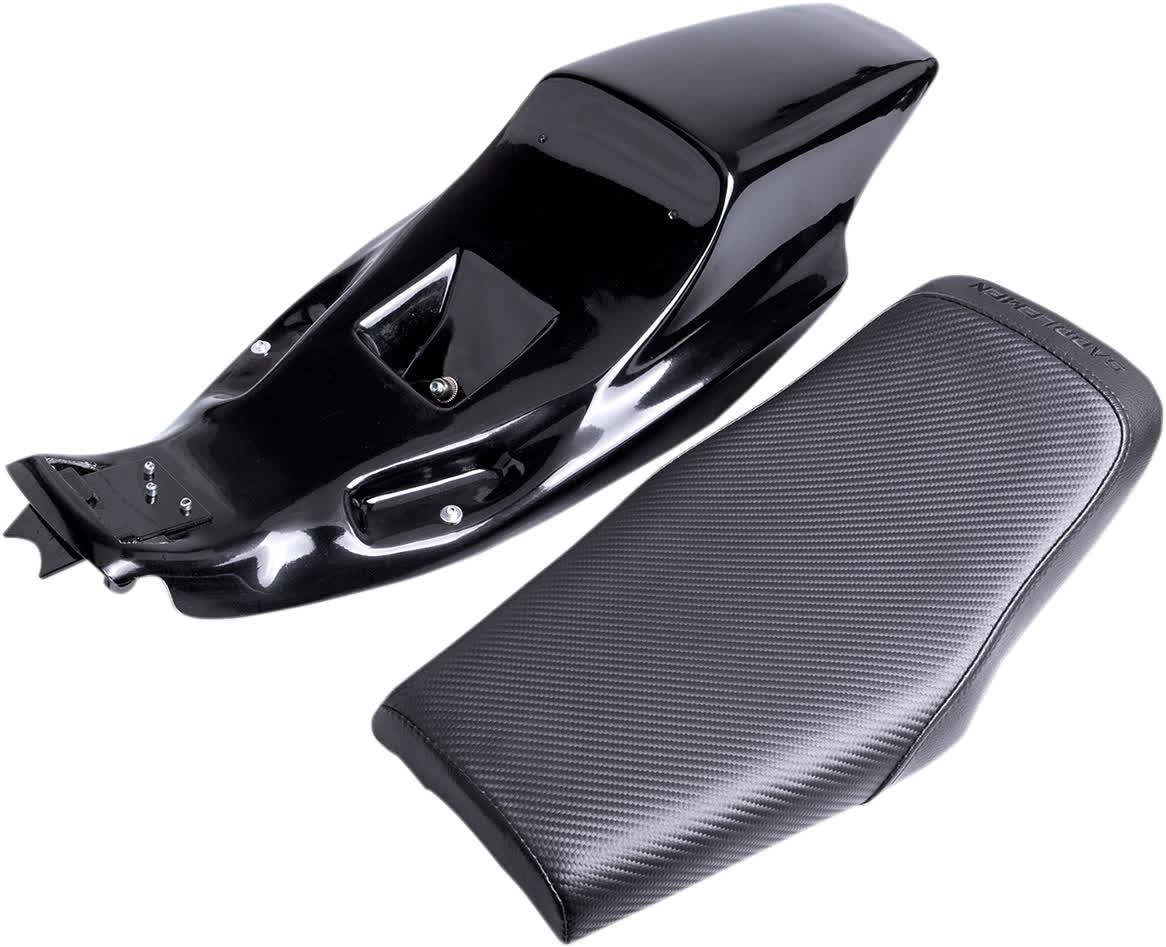 Saddlemen Z4282 Eliminator Tail Section/Seat Kit  Faux Carbon Fiber