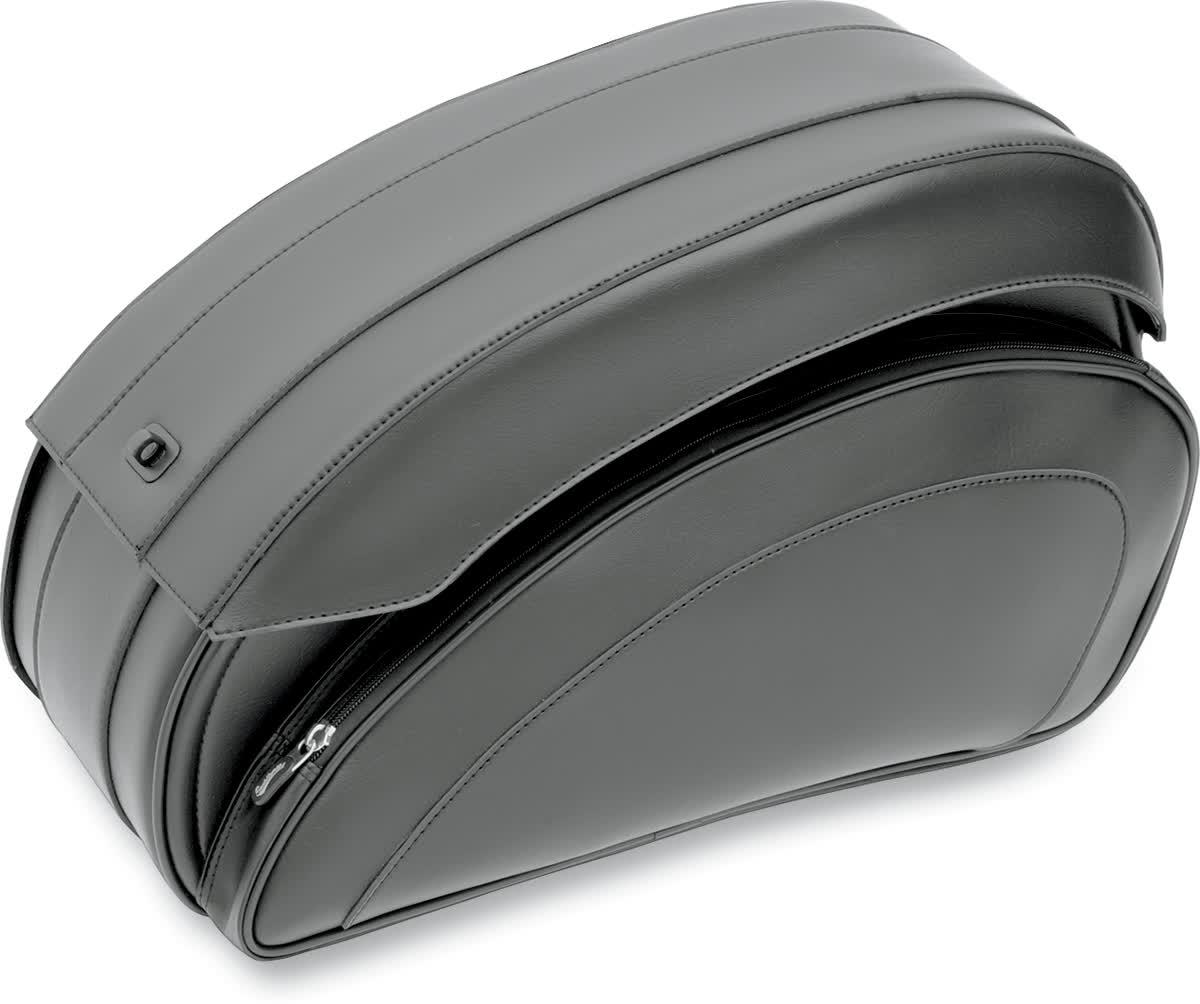 Saddlemen 3501-0718 Cruisn Deluxe Saddlebag Set with Chrome Saddlebag Supports