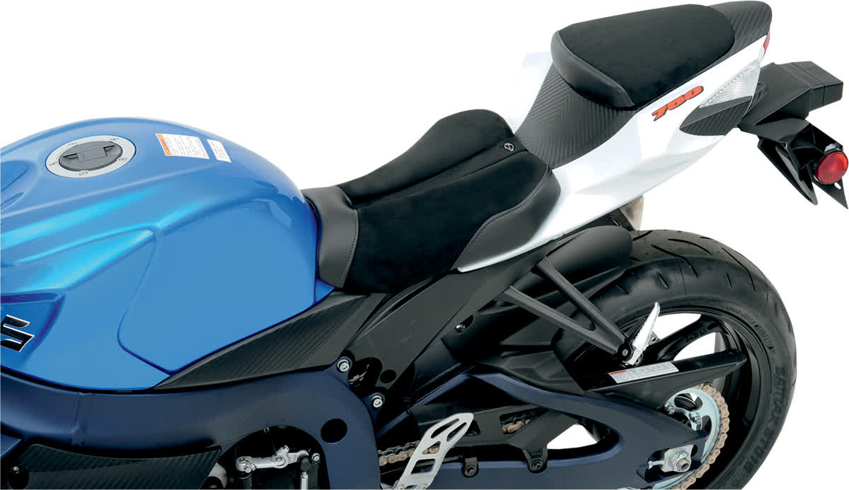 Saddlemen 0810-S027 Gel-Channel Sport One-Piece Solo Seat with Rear Cover