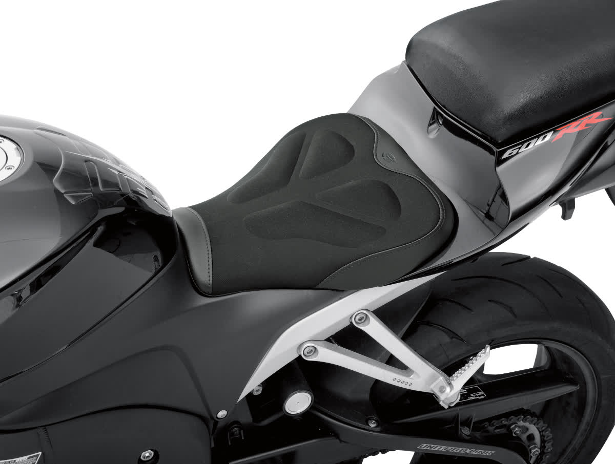 Saddlemen 0810-0827 Gel-Channel Tech One-Piece Solo Seat with Rear Cover