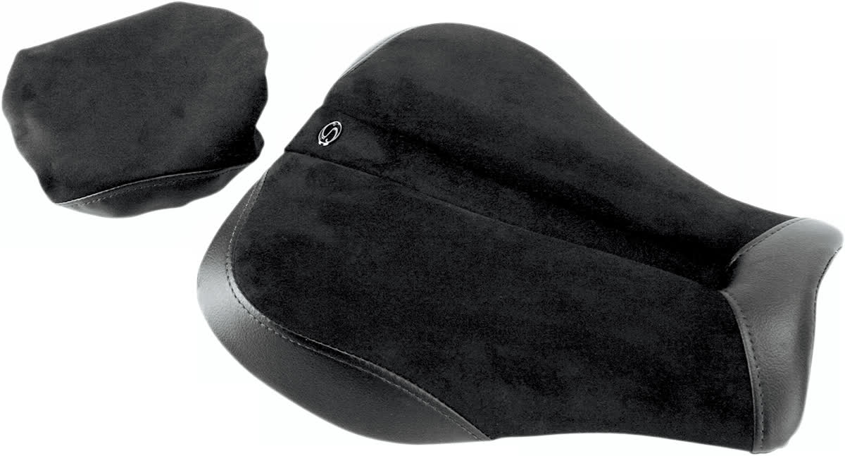 Saddlemen 0810-0826 Gel-Channel Sport One-Piece Solo Seat with Rear Cover