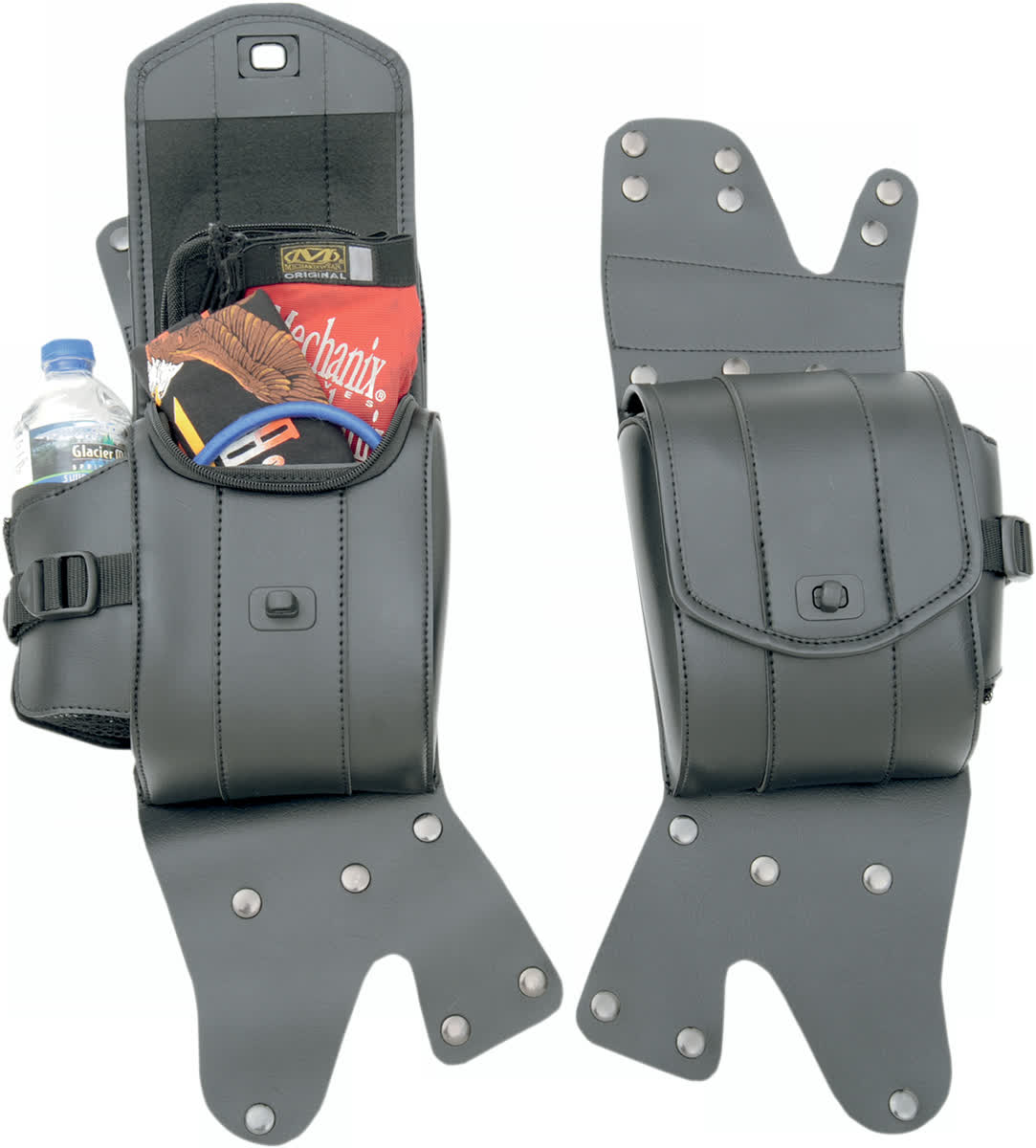 Saddlemen 3501-0715 Cruisn Deluxe Saddlebag Guard Bag Set