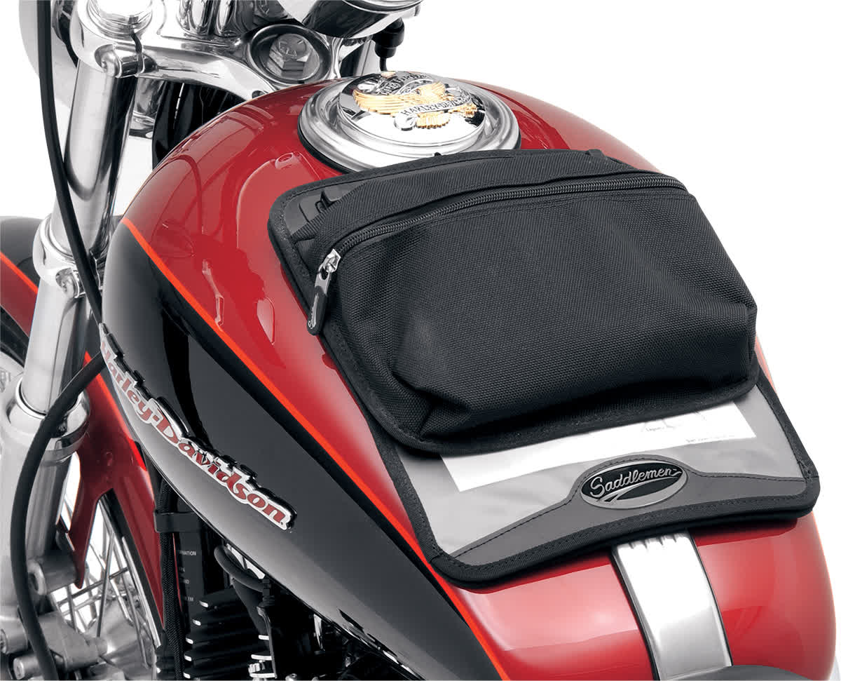 Saddlemen 3502-0135 Tank Map Pouches  Large with Suction Cup Bottom