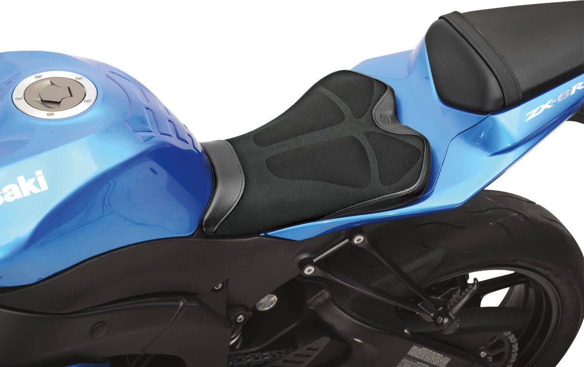 Saddlemen 0810-0836 Gel-Channel Tech One-Piece Solo Seat with Rear Cover
