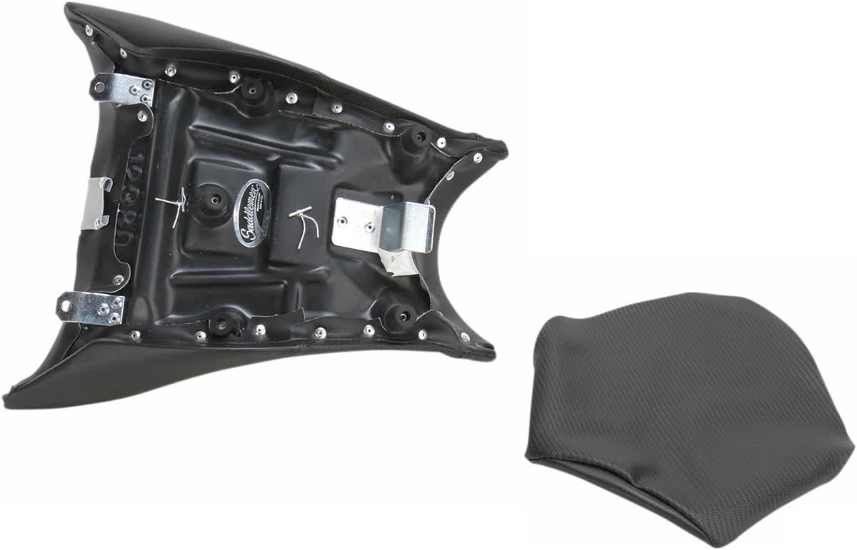 Saddlemen 0810-BM02 Gel-Channel Track One-Piece Solo Seat with Rear Cover