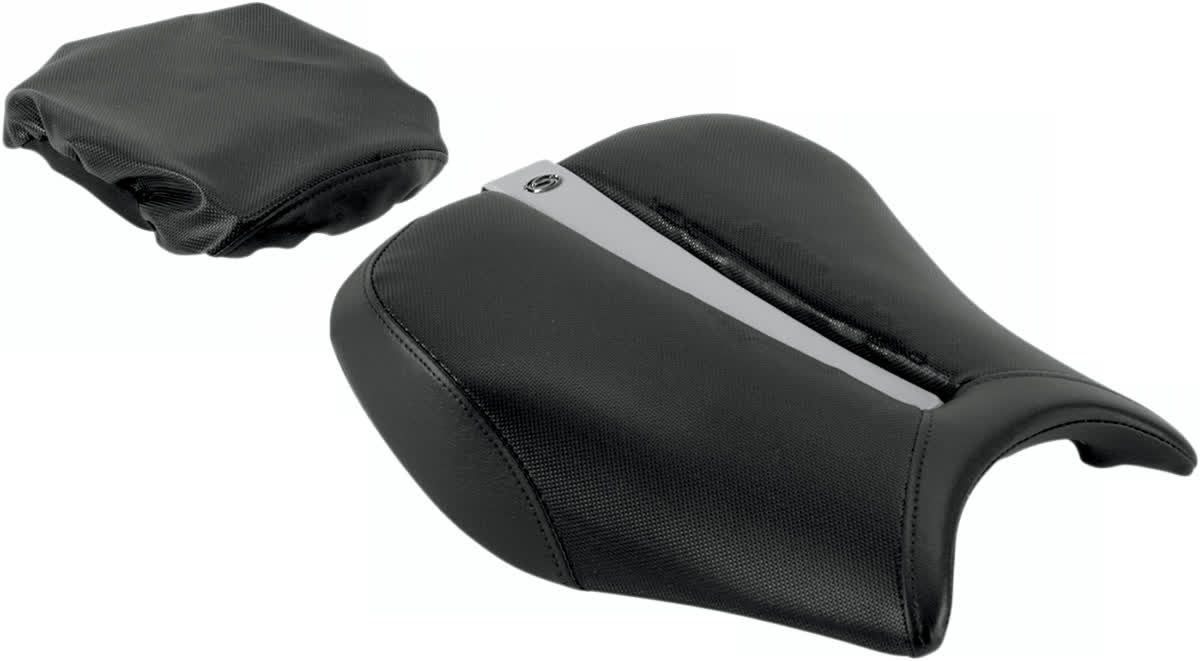 Saddlemen 0810-0828 Gel-Channel Track One-Piece Solo Seat with Rear Cover
