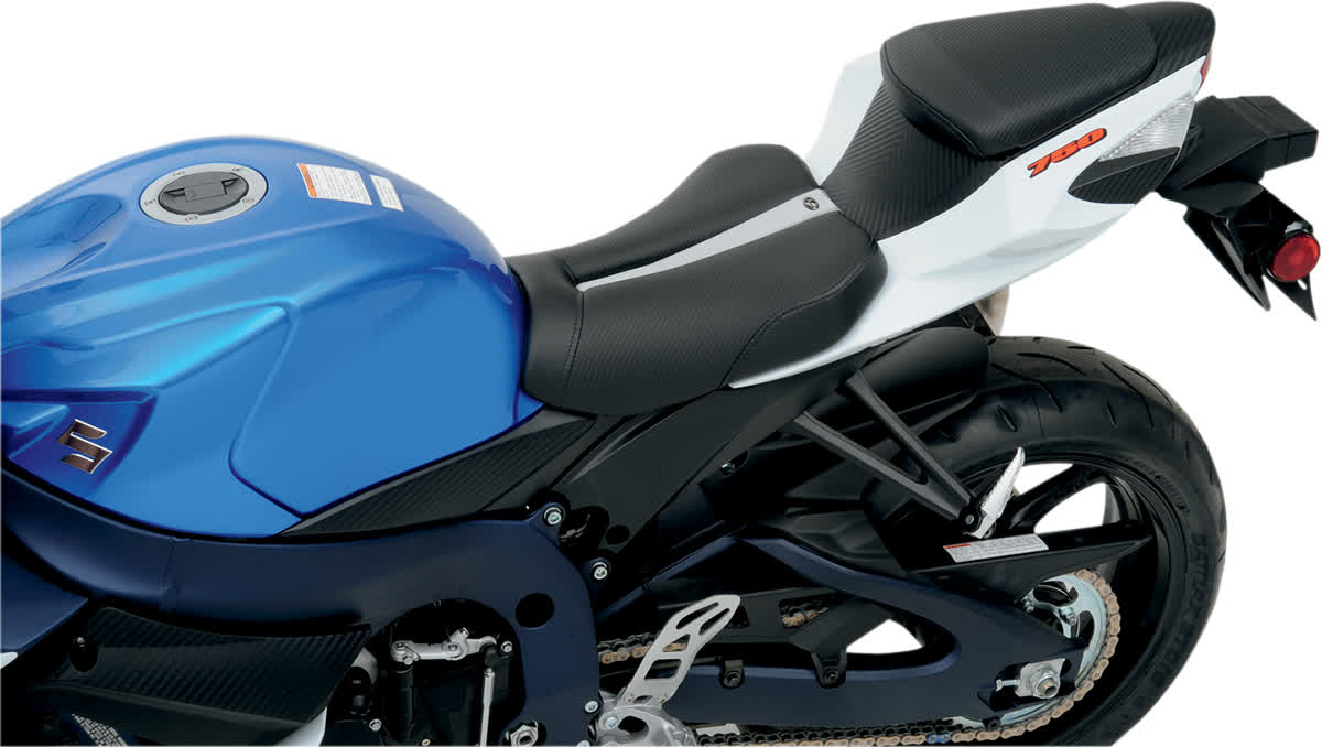 Saddlemen 0810-S026 Gel-Channel Track One-Piece Solo Seat with Rear Cover