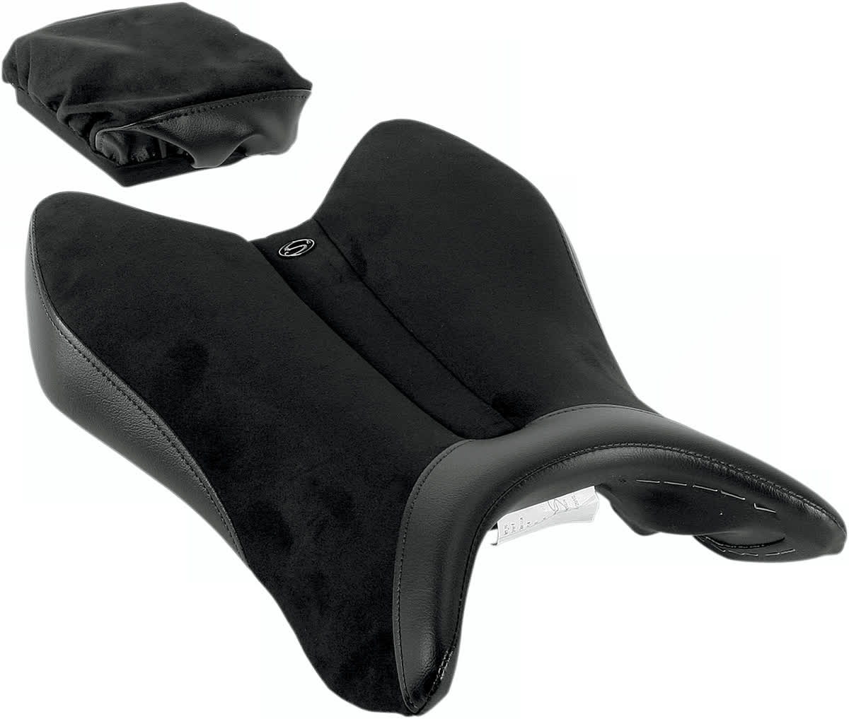 Saddlemen 0810-0790 Gel-Channel Sport One-Piece Solo Seat with Rear Cover