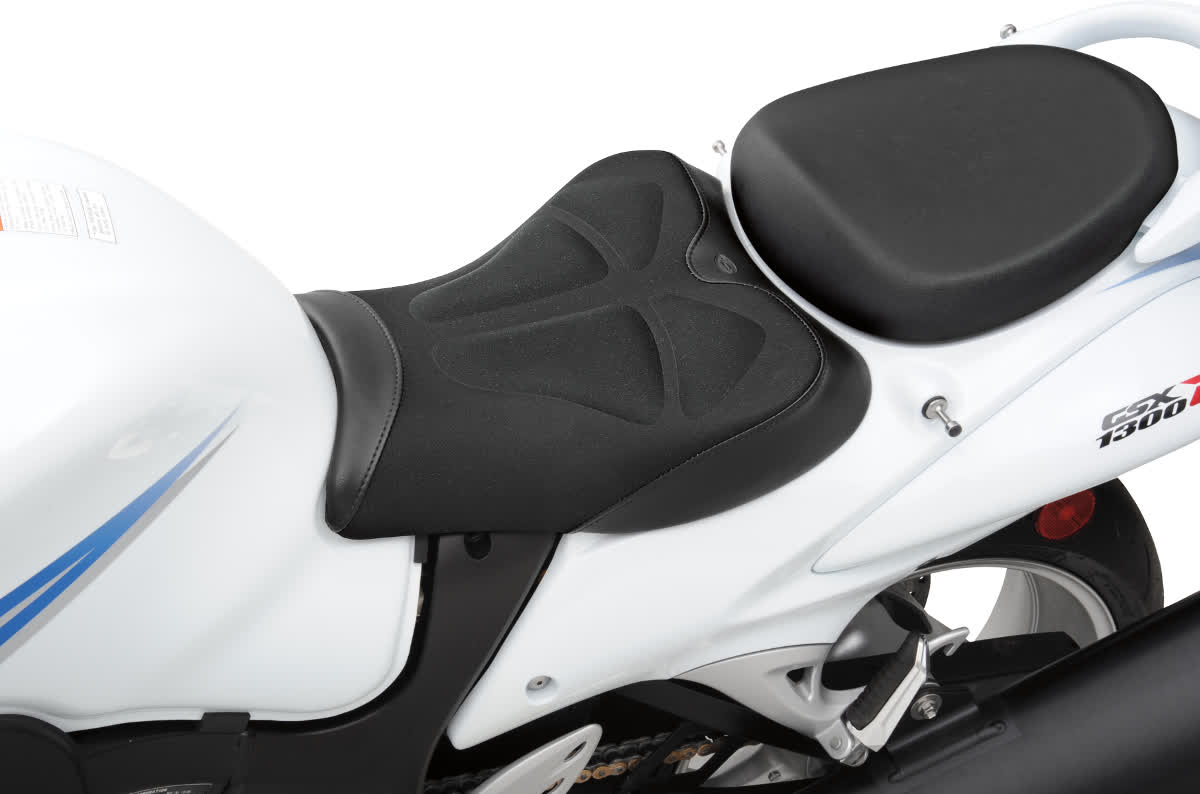 Saddlemen 0810-0824 Gel-Channel Tech One-Piece Solo Seat with Rear Cover