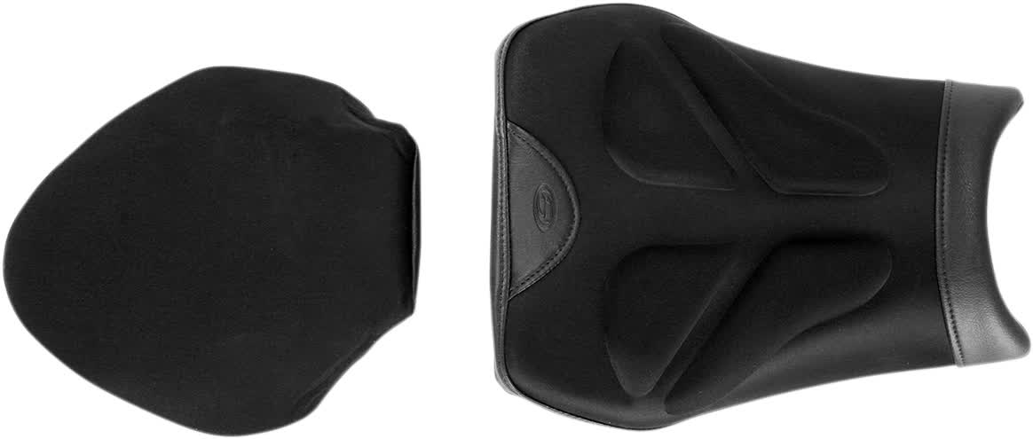 Saddlemen 0810-BM19 Gel-Channel Tech One-Piece Solo Seat with Rear Cover
