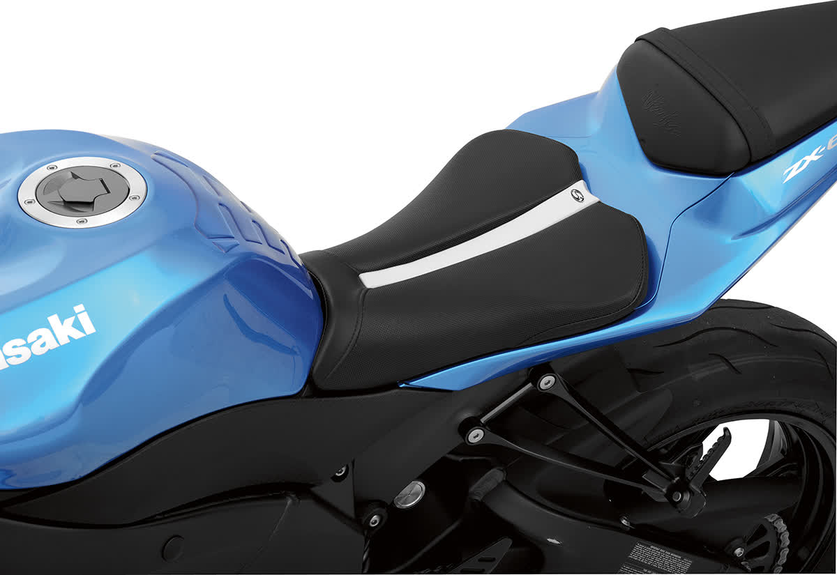 Saddlemen 0810-0834 Gel-Channel Track One-Piece Solo Seat with Rear Cover