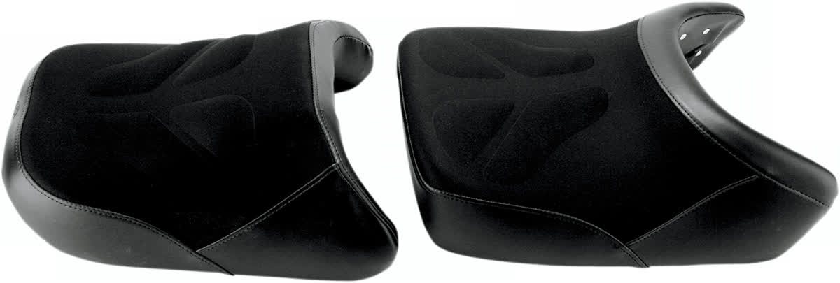 Saddlemen 0810-0800 Gel-Channel Tech One-Piece Solo Seat with Rear Cover