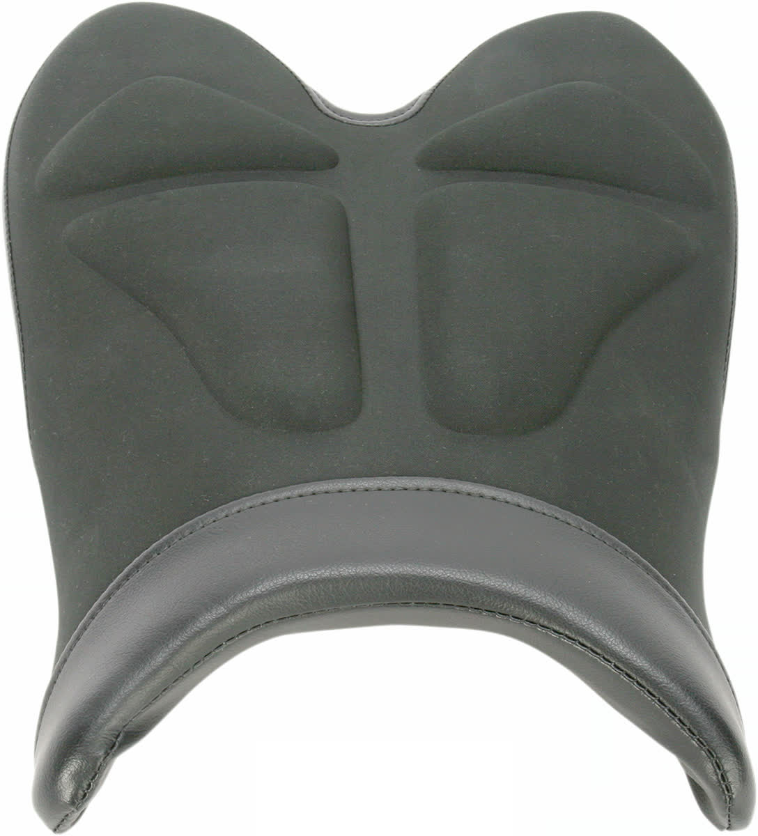 Saddlemen 0810-Y116 Gel-Channel Tech One-Piece Solo Seat with Rear Cover