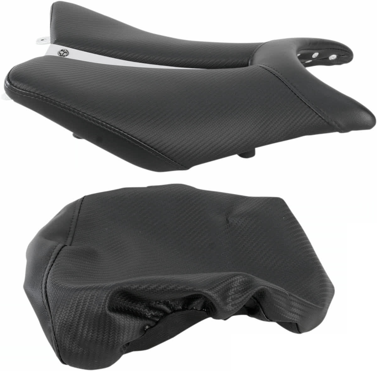 Saddlemen 0810-H016 Gel-Channel Track One-Piece Solo Seat with Rear Cover