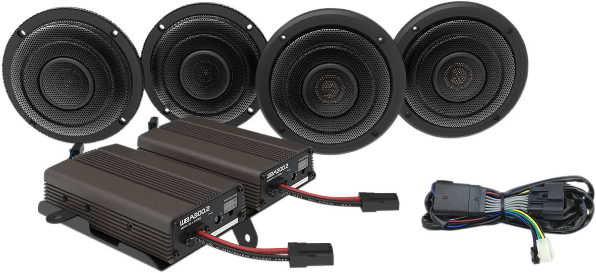 Hogtunes Wild Boar WBA ULTRA KIT 600 Watt 4-Speaker w/Amp Kit 14+ FLH 4405-0499