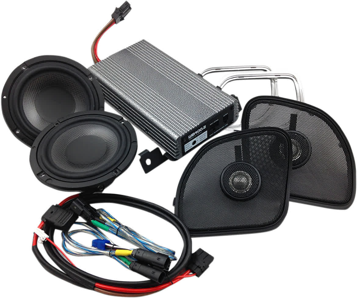 "Hogtunes Wild Boar WBARG KIT Amp Kit 400watt w/6.5"" Speakers 15+ FLTR 4405-0483"
